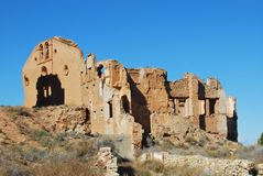 Belchite. Abandoned town. Belchite, in Spain Stock Photos