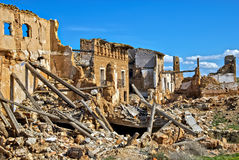 Belchite, Aragon, Spain. The remains of the old village of Belchite, where between August 24 and September 7, 1937, loyalist Spanish Republican and rebel General Stock Photos