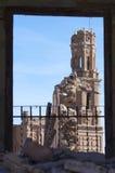 Belchite demolido aldea Imágenes de archivo libres de regalías
