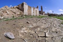 Belchite demolido aldea Fotos de archivo libres de regalías