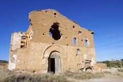 Belchite demolido aldea Fotografía de archivo libre de regalías