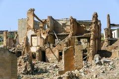 Belchite demolido aldea Fotografía de archivo