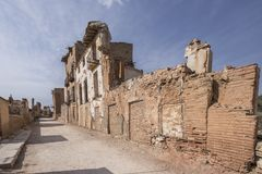 Belchite. Is a municipality of the province of Zaragoza, Spain. It is known for having been a scene of one of the symbolic battles of the Spanish Civil war, `s Royalty Free Stock Image