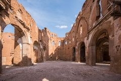 Belchite. Is a municipality of the province of Zaragoza, Spain. It is known for having been a scene of one of the symbolic battles of the Spanish Civil war, `s Stock Photo