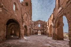Belchite. Is a municipality of the province of Zaragoza, Spain. It is known for having been a scene of one of the symbolic battles of the Spanish Civil war, `s Royalty Free Stock Images