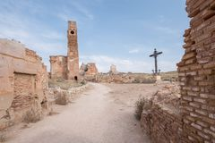 Belchite. Is a municipality of the province of Zaragoza, Spain. It is known for having been a scene of one of the symbolic battles of the Spanish Civil war, `s Royalty Free Stock Photos