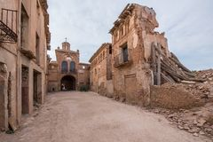 Belchite. Is a municipality of the province of Zaragoza, Spain. It is known for having been a scene of one of the symbolic battles of the Spanish Civil war, `s Stock Images