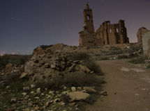 Belchite na noite Imagens de Stock