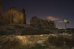 Belchite na noite Imagem de Stock