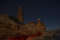 Belchite na noite Fotografia de Stock