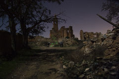 Belchite by Night Stock Photo