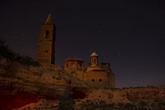 Belchite by Night. Pics of Belchite at night Royalty Free Stock Images