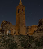 Belchite by Night. Pics of Belchite at night Stock Images