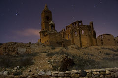 Belchite by Night. Pics of Belchite at night Stock Photography