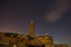 Belchite nocą Zdjęcia Stock