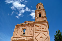 Belchite old on a sunny day Stock Photography