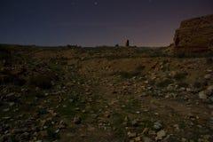 Belchite par nuit Photographie stock