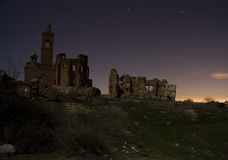 Belchite par nuit Image stock