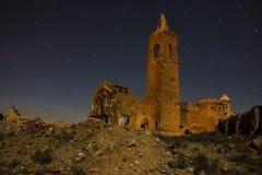 Belchite par nuit Images stock