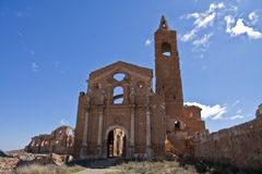 Belchite ruins Stock Photography