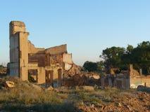 Belchite ruins, Zaragozxa, Spain Royalty Free Stock Image