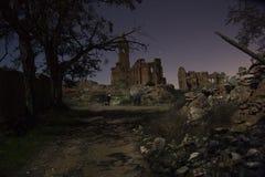 Belchite vid natt Arkivfoto