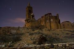 Belchite vid natt Arkivbild
