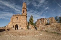 Belchite viejo σε Σαραγόσα, Ισπανία στοκ φωτογραφία με δικαίωμα ελεύθερης χρήσης