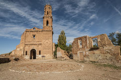 Belchite viejo in Zaragoza, Spain Royalty Free Stock Photography