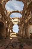 Belchite viejo in Zaragoza, Spain Stock Photography