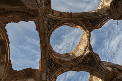 Belchite viejo in Zaragoza, Spain Stock Images