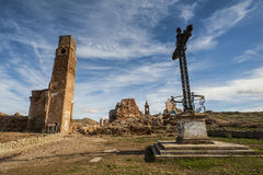 Belchite viejo in Zaragoza, Spain Stock Image