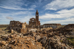 Belchite viejo in Zaragoza, Spain Stock Photos