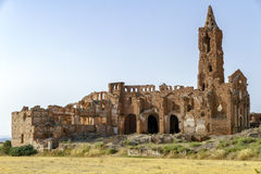 Belchite village destroyed in a bombing Royalty Free Stock Photos
