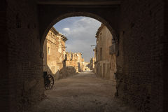 Belchite village destroyed by the bombing of the civil war in Spain Royalty Free Stock Photo