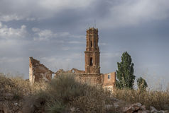 Belchite village destroyed by the bombing of the civil war in Spain Stock Photography