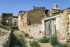 Belchite village destroyed in a bombing Civil War Stock Photo