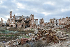Belchite village destroyed in a bombing during the Spanish Civil Stock Images
