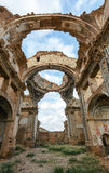 Belchite village destroyed in a bombing during the Spanish Civil Royalty Free Stock Photo