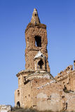 Belchite village destroyed in a bombing during the Spanish Civil War Stock Photo