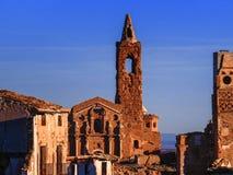 Belchite village war ruins in Aragon Spain at dusk Royalty Free Stock Photography