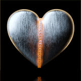 Beld Heart for Valentines Day Greeting Card Design On Black Stock Images
