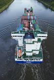 Beldorf - Container vessel at Kiel Canal Stock Images