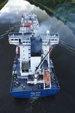 Beldorf - Exhaust fumes of container vessel at Kiel Canal Royalty Free Stock Images