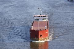 Beldorf - General cargo ship at Kiel Canal Royalty Free Stock Photos