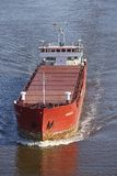 Beldorf - General cargo ship at Kiel Canal Royalty Free Stock Photography