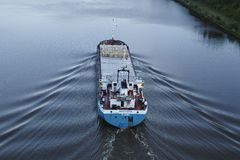 Beldorf - General cargo ship at Kiel Canal Stock Photo