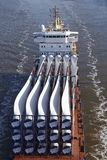 Beldorf (Germany) - Cargo vessel at Kiel Canal (retouched) Royalty Free Stock Photo