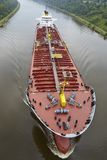 Beldorf - Tankboot in Kiel Canal Stock Foto's