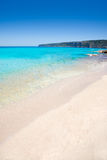Belearic Formentera Escalo white sand beach Stock Images